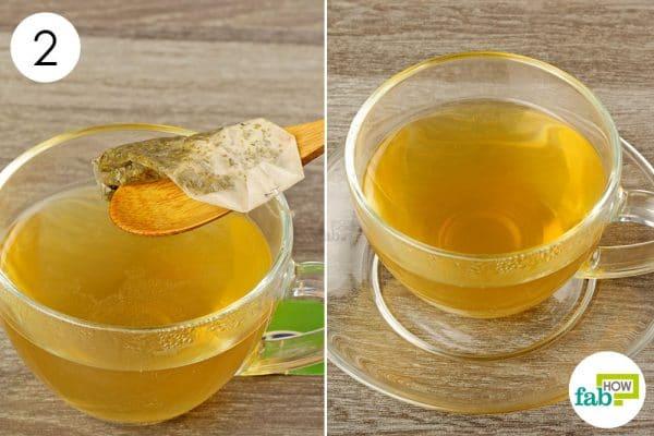 discard tea bag and enjoy peppemint tea