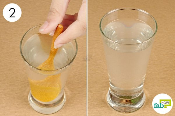 gargle with saline solution