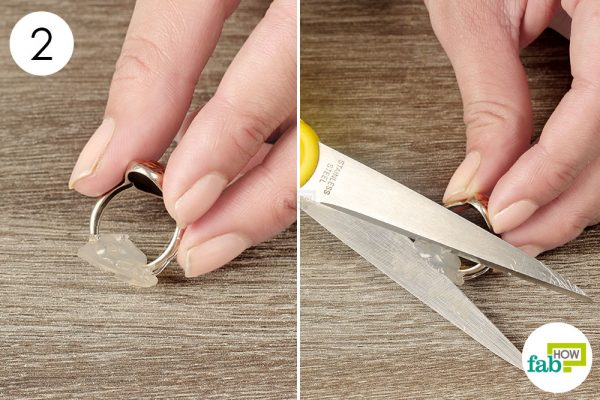 peel off dried glue and chop off outer edges
