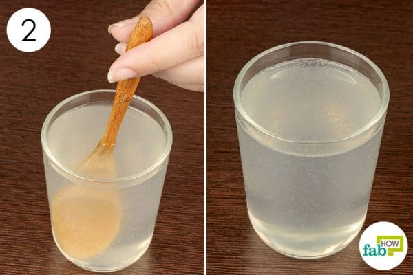 rinse your mouth with lemon and salt water