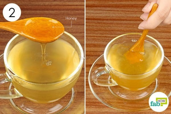 stir in honey and drink