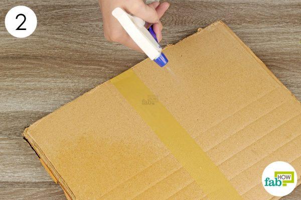wet the cardboard