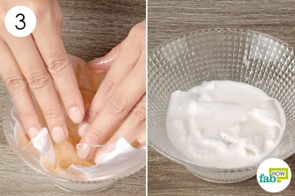 soak the stain in detergent solution