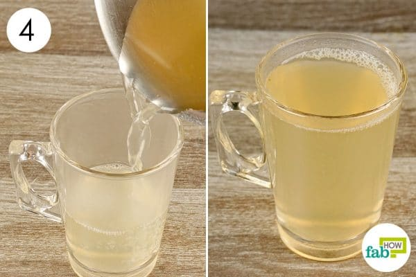 strain the ginger tea and drink