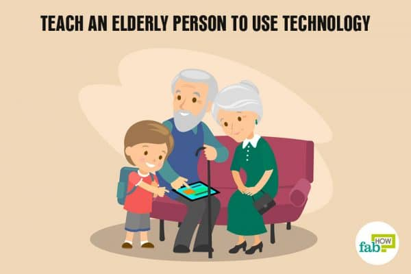 teach an eldery person to use technology