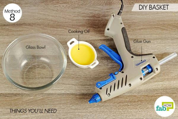 things you'll need for DIY glue basket