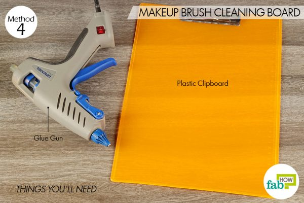things you'll need for makeup brush cleaning board