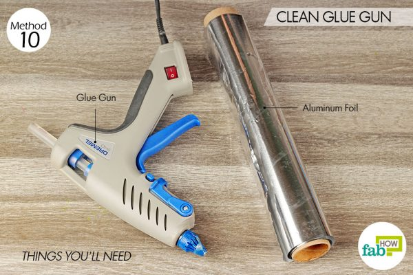 things you'll need for cleaning glue gun