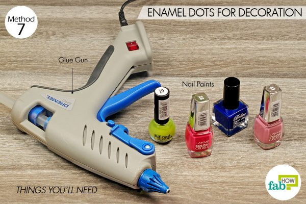 things you'll need for enamel dots