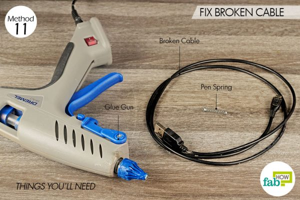 things you'll need for fixing broken cable