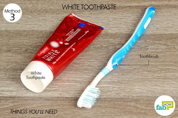 things you'll need using white toothpaste