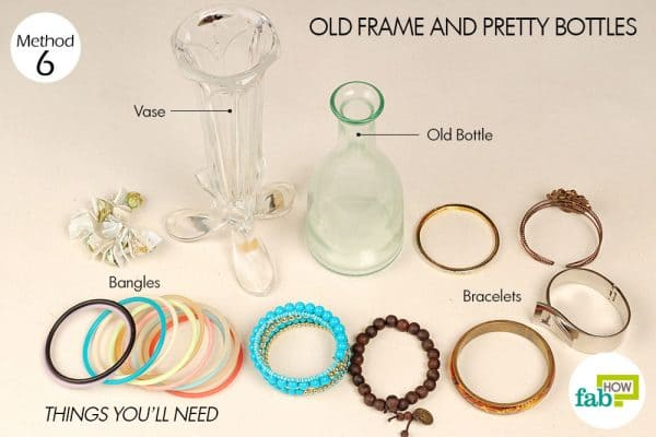 things you'll need for jewelry stand on bottles