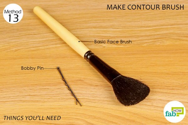 things you'll need to make contour brush
