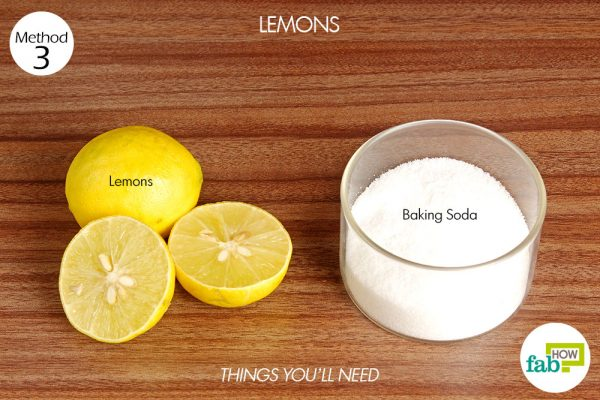 things you'll neeed to clean BBQ grill with lemon