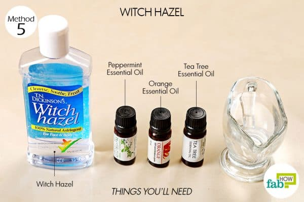 things you'll need to use witch hazel to clean a yoga mat