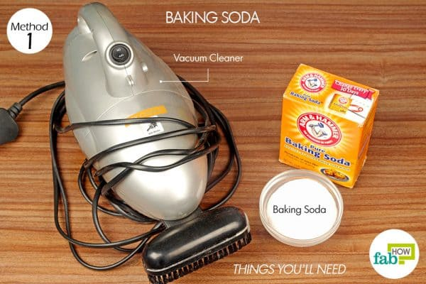 things you'll need to use baking soda to get cigarette smell out of furniture