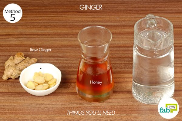 things you'll need to make ginger tea