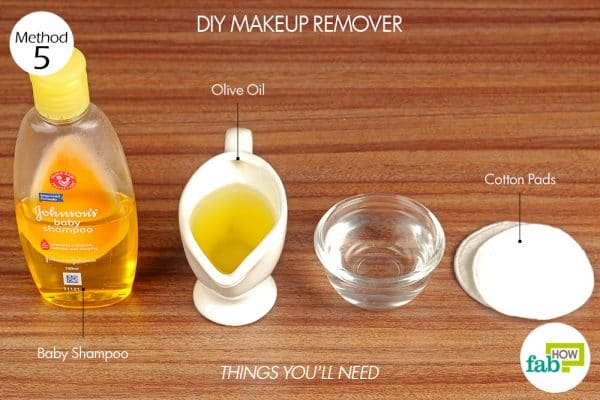 things you'll need for DIY makeup remover