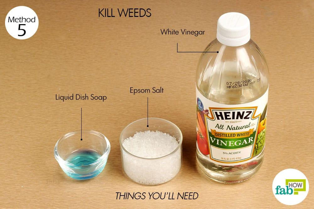 Epsom Salt To Kill Weeds White Vinegar 2 Cups