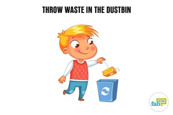 throw waste in dustbin