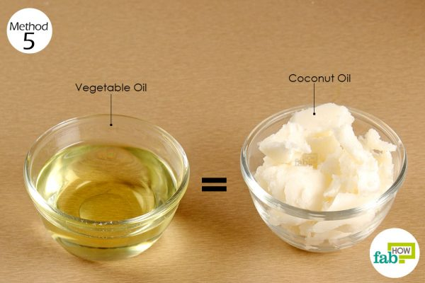 substitute vegetable oil with coconut oil