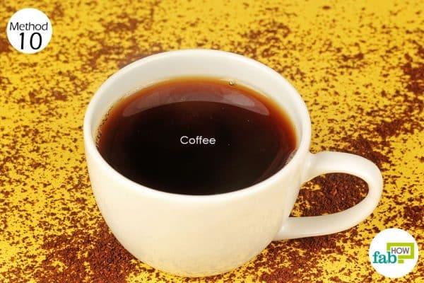 drink coffee to treat garlic breath