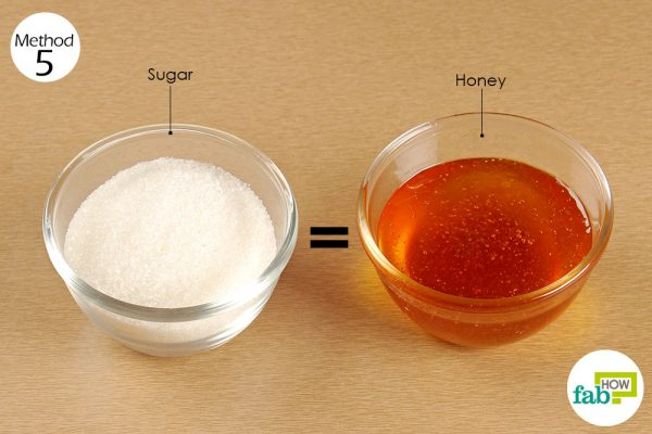 substitute sugar with honey