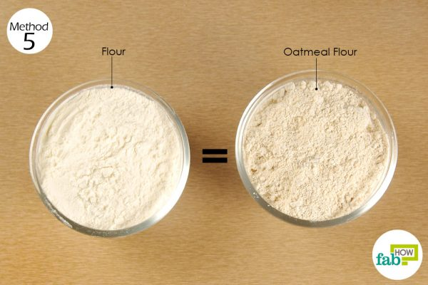substitute all-purpose flour with oat flour