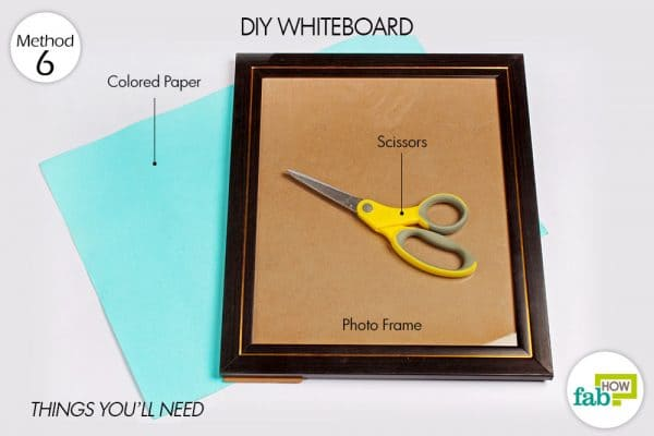 DIY whiteboard to organize your room