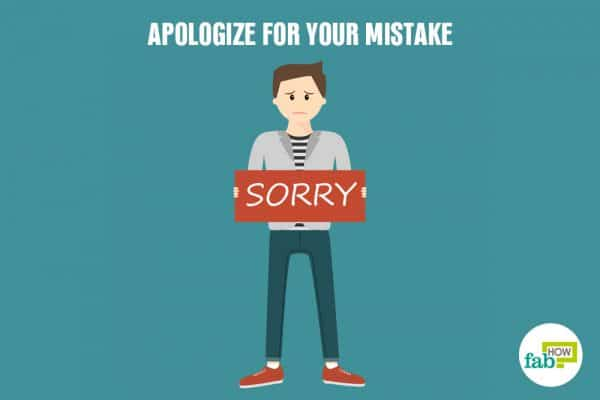 apologize for your mistake