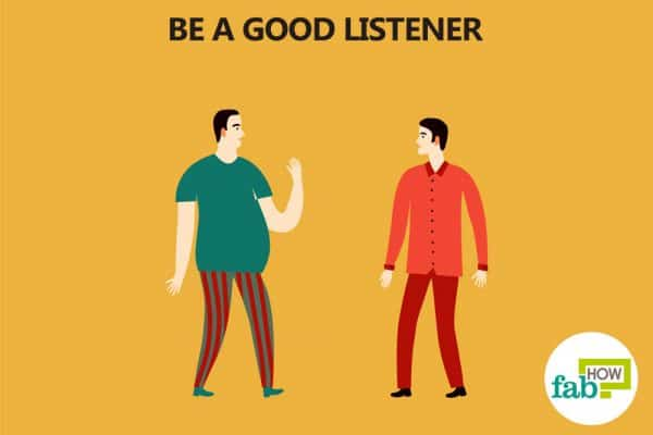 listen when the other person is talking