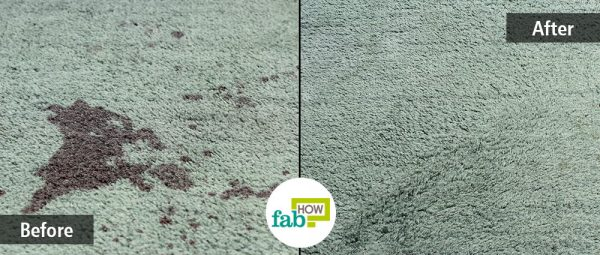 Try out the cleaning trick given below to completely remove carpet stains