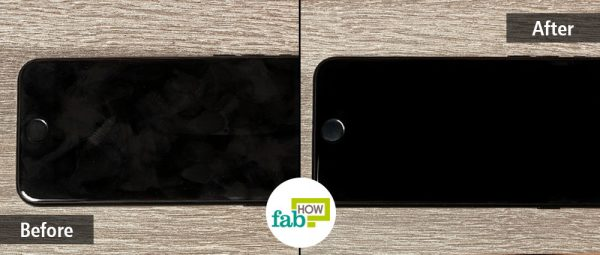 Clean your iPhone screen to remove all dirt, grease, and bacteria