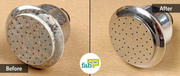 DIY cleaning hack for stain-free shower head