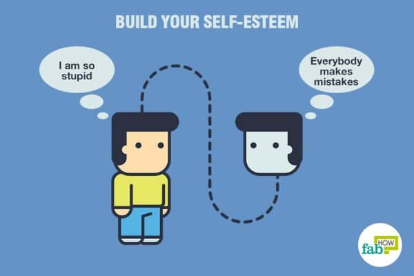 Speak to yourself in an encouraging and positive manner to practice positive self-talk