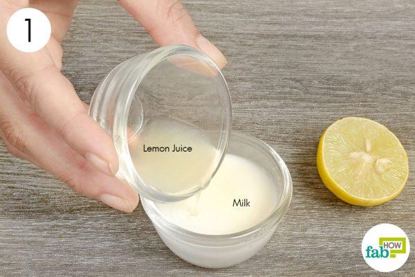 Combine milk and lemon juice in a bowl