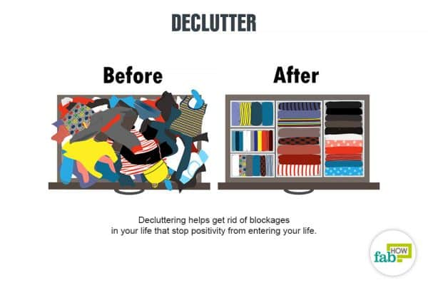 declutter to get rid of bad luck