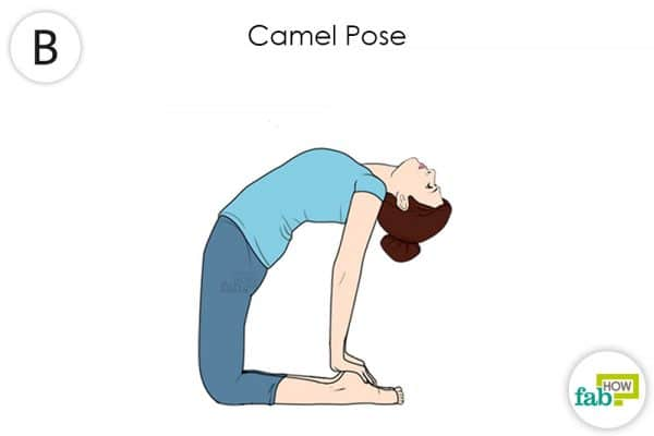 do the camel yoga pose to get rid of hypothyroidism