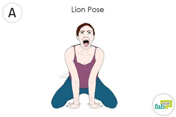 Do the lion yoga pose to get rido fo hypothyroidism