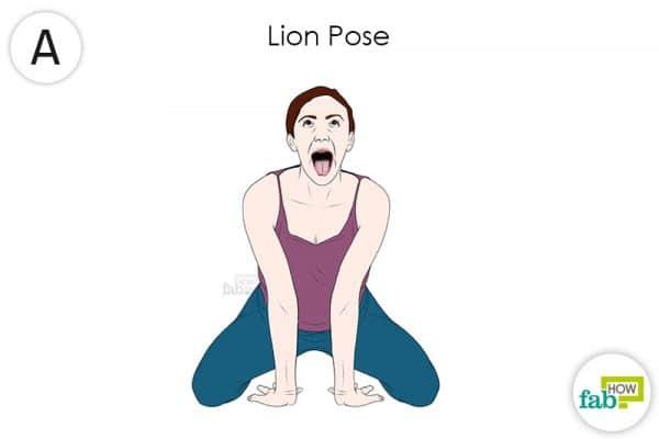 Do the lion yoga pose to get rido fo hypothyroidism