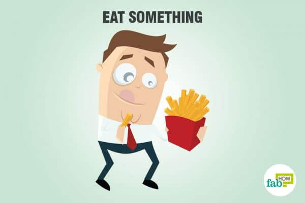 eat something to sober up fast
