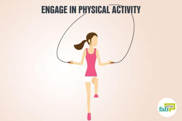 Physical activity reduces stress and triggers the release of endorphins that generate positive feelings in you