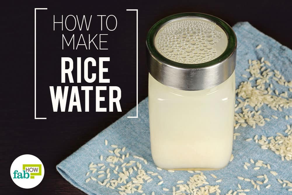 how to make rice water for younger-looking skin and hair