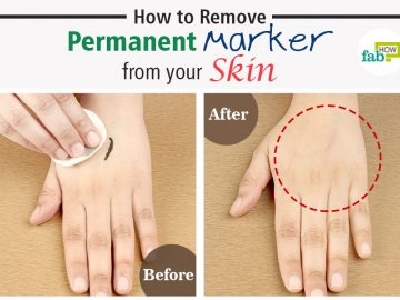 How to Remove Permanent Marker from your Skin