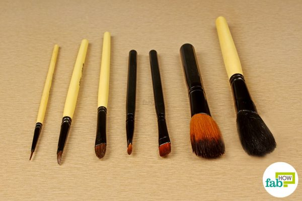 final cleaned brushes using hydrogen peroxide