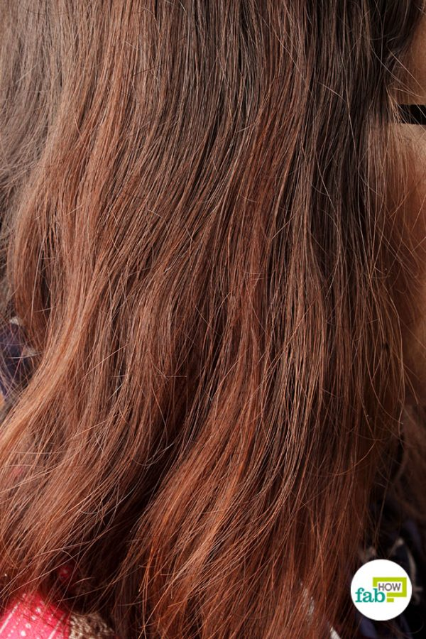 final lightened hair using hydrogen peroxide and baking soda