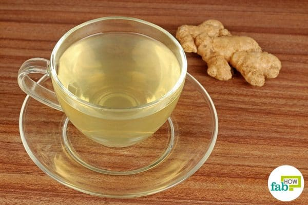 Ginger tea as a remedy for dizziness