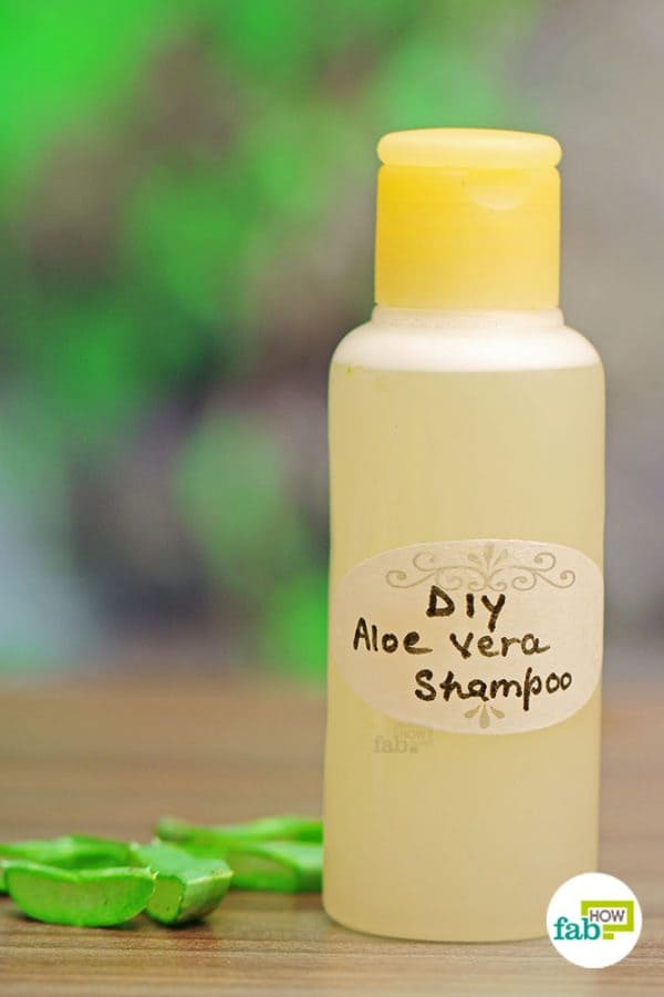 Make your own chemical-free aloe vera shampoo