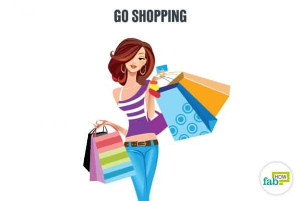 go shopping to enjoy yourself alone