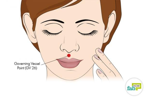 Use the Governing Vessel acupressure point